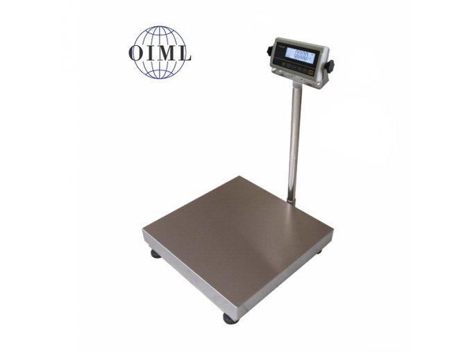 LESAK 1T8080LN-RWP, 150kg, 800x800mm, lak/nerez (1 Váha bez ověření)