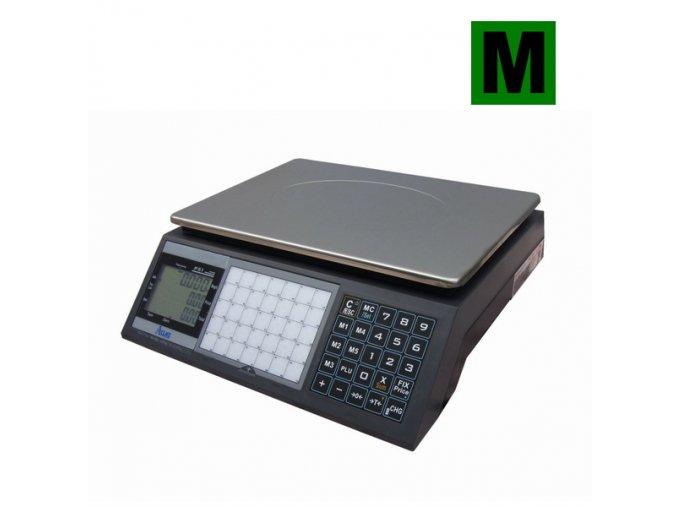 ACLAS PS1-15DS, 6/15kg, 330mmx230mm  Obchodní pultová váha s výpočtem ceny v nízkém provedení
