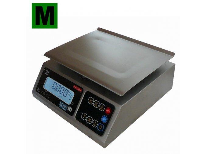 TORREY LEQ-8, 8kg, 245mmx190mm  Nerezová gastro váha pro kuchyně, sklady a výrobu