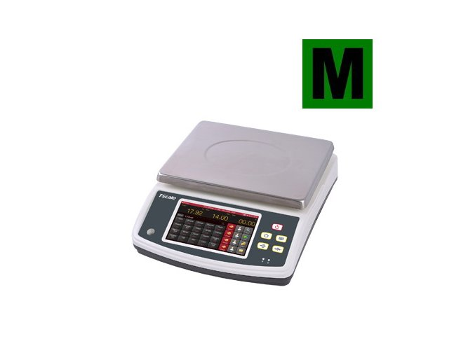 TSCALE Q7-10, 6;15kg/2;5g, 230mmx300mm  Obchodní pultová váha s výpočtem ceny v nízkém provedení