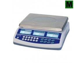 TSCALE QTP, 15/30kg, 300mmx230mm  Obchodní pultová váha s výpočtem ceny v nízkém provedení