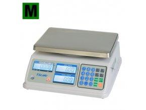 TSCALE SP, 3/6kg, 200mmx260mm  Obchodní pultová váha s výpočtem ceny v nízkém provedení