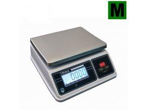 TSCALE SW, 3;6kg/1;2g, 200mmx260mm  Obchodní gastro váha do kuchyní, výroben a skladů - dva displeje, IP-65