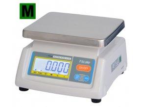 TSCALE T28-6D, 3/6kg, 190mmx230mm  Gastro váha do kuchyní, výroben a skladů - dva displeje