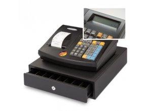Quorion CR 21 2xRS/USB/LA, registrační pokladna se zásuvkou černá