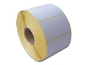 Termo etikety 60 x 39,TE 60/39, 60x39, 1000 etiket/kotouček (2 karton 24 ks)