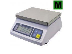 CAS SW 1S-20DR, 20 kg, 230mmx190mm  Gastro váha do kuchyní, výroben a skladů - ES ověřená