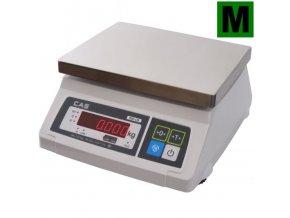 CAS SW-LR 10DR, 10 kg, 230mmx190mm  Gastro váha do kuchyní, výroben a skladů - ES ověřená