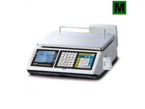 CAS CT-100 15L, váhopokladna  Váha s tiskem účtenek v nízkém provedení