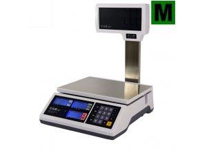 CAS ER Junior 6P, 3;6kg/1;2g, 290x209mm  Obchodní pultová váha s výpočtem ceny a displejem na nožce