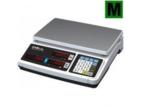 CAS PR PLUS 15L, 6;15kg/2;5g, 330x325mm  Obchodní pultová váha s výpočtem ceny a displejem na těle váhy