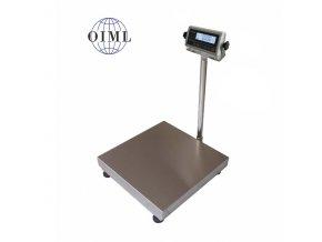 LESAK 1T8080LN-RWP, 300kg, 800x800mm, lak/nerez (1 Váha bez ověření)