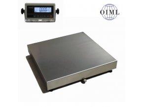 LESAK 1T4040LN-RWP, 150kg/20g, 400mmx400mm, lak/nerez, úlová váha