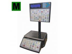 ACLAS LS2S615, 6/15kg, 345mmx264mm  Obchodní váha s tiskem etiket pro samoobslužný prodej - ES ověřená
