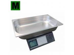 ACLAS PS1-15DS-MR, 6/15kg, 530mmx325mm  Obchodní pultová váha na ryby s výpočtem ceny a nerezovou miskou