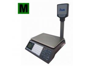 ACLAS PS1P-15DS, 6/15kg, 330mmx230mm  Obchodní pultová váha s výpočtem ceny a displejem na stativu