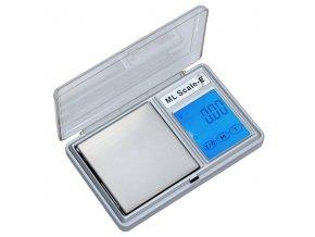 LESAK HD-03, 200g/0,01g, 53mmx53mm  Kapesní váha s dotykovým displejem