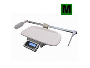 TSCALE FOX-I-BABY-M800, 15;30kg/5;10g, 600x280mm  Certifikovaná kojenecká váha s metrem, provoz síťový i bateriový