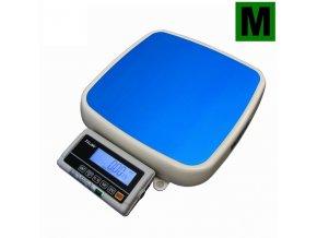 TSCALE FOX-II, 30;60kg/10;20g, 355mmx370mm, lak/hliník  Podlahová váha s dvojím rozsahem, ES ověřená