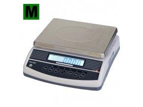 TSCALE QHW, 15;30kg/5;10, 300mmx230mm  Obchodní gastro váha s režimem počítání kusů - ES ověřená
