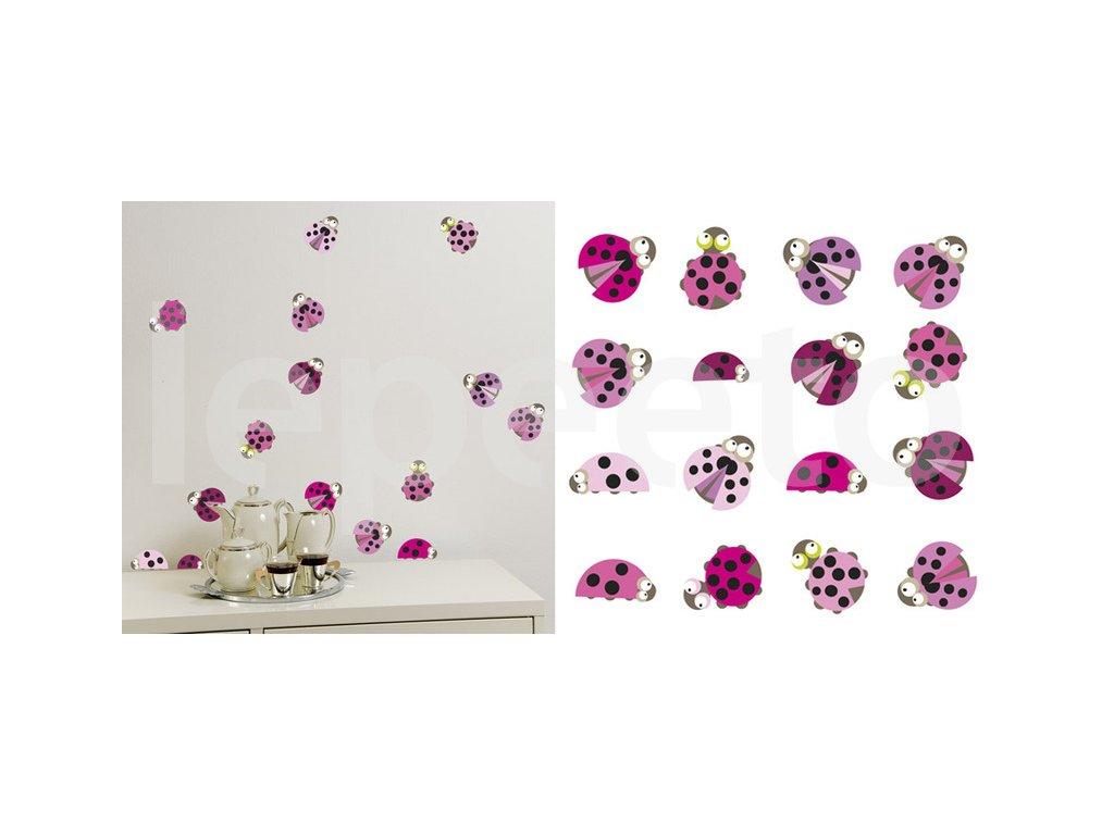 Berunky PINK - samolepky na zeď