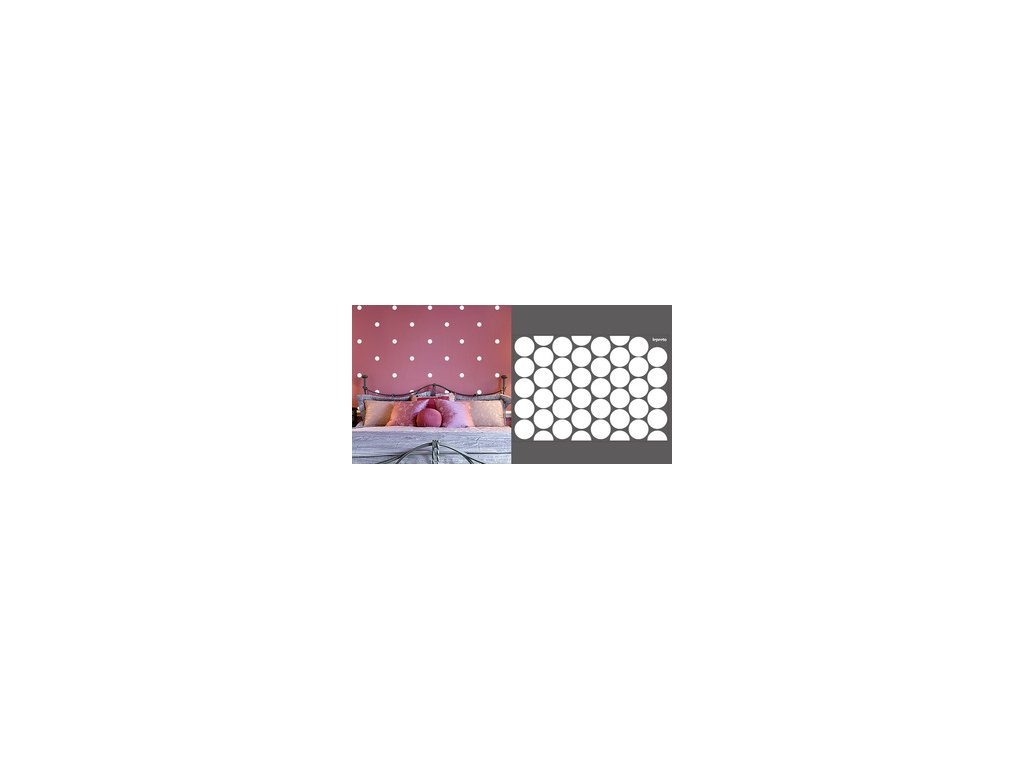 Puntík jednobarevný menší 6 cm - samolepky na zeď