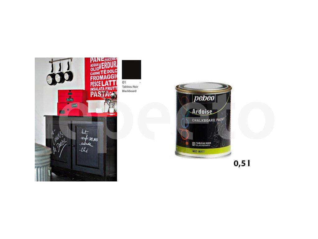 Tabulová barva - velká 0,5 l - matná - barva na zeď a nábytek
