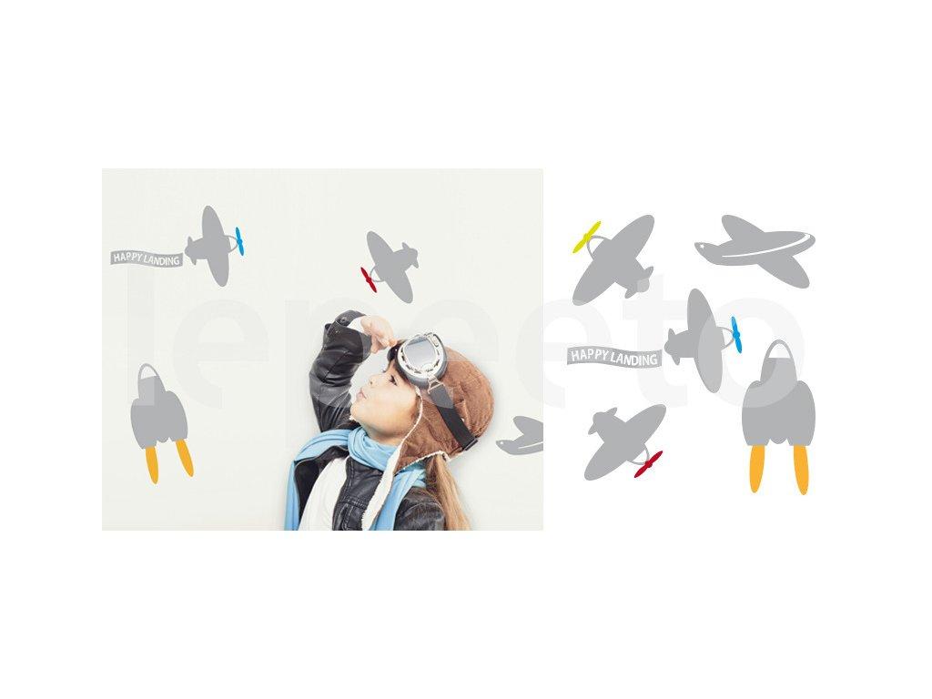 Letecký den - samolepky na zeď