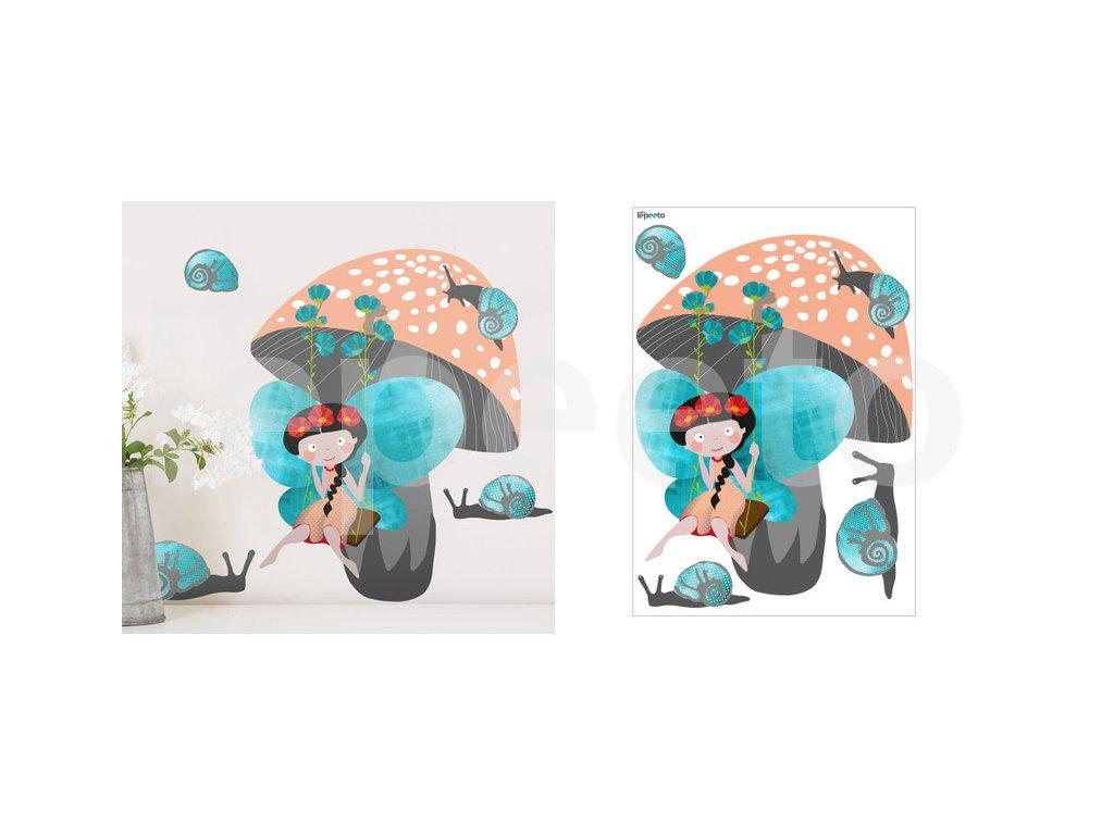 Houpačka - samolepky na stěnu z kolekce Z mechu