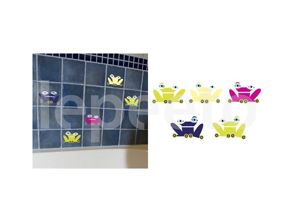 Koupelnové žabky - samolepky na dlaždičky