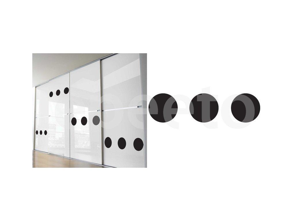 Tři popisovatelné tabulové samolepicí puntíky průměr 14 cm