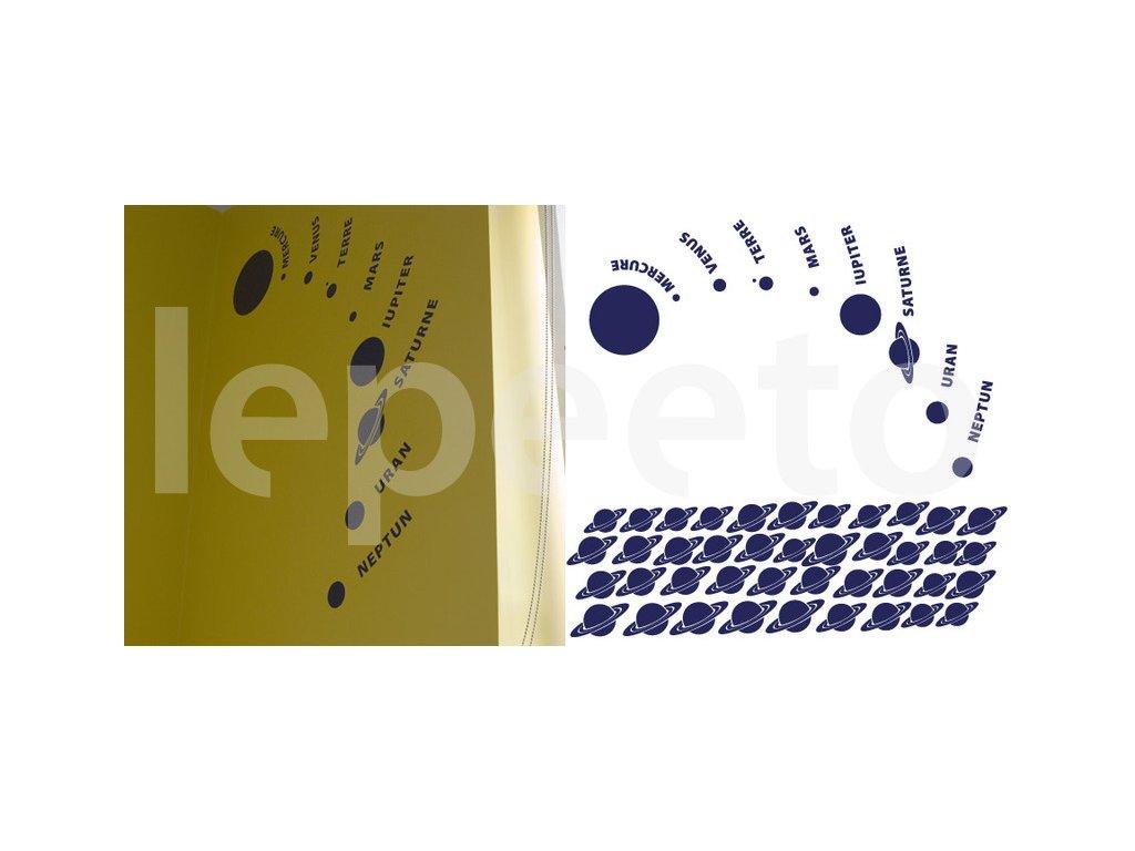 Sluneční soustava - sada samolepicích planet - Lepeeto - samolepky ... bd5175ae765