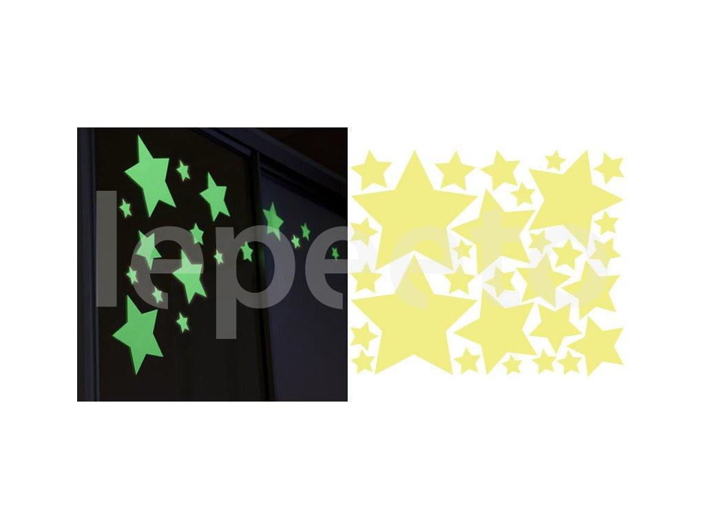 Svítící hvězdičky - samolepka na zeď