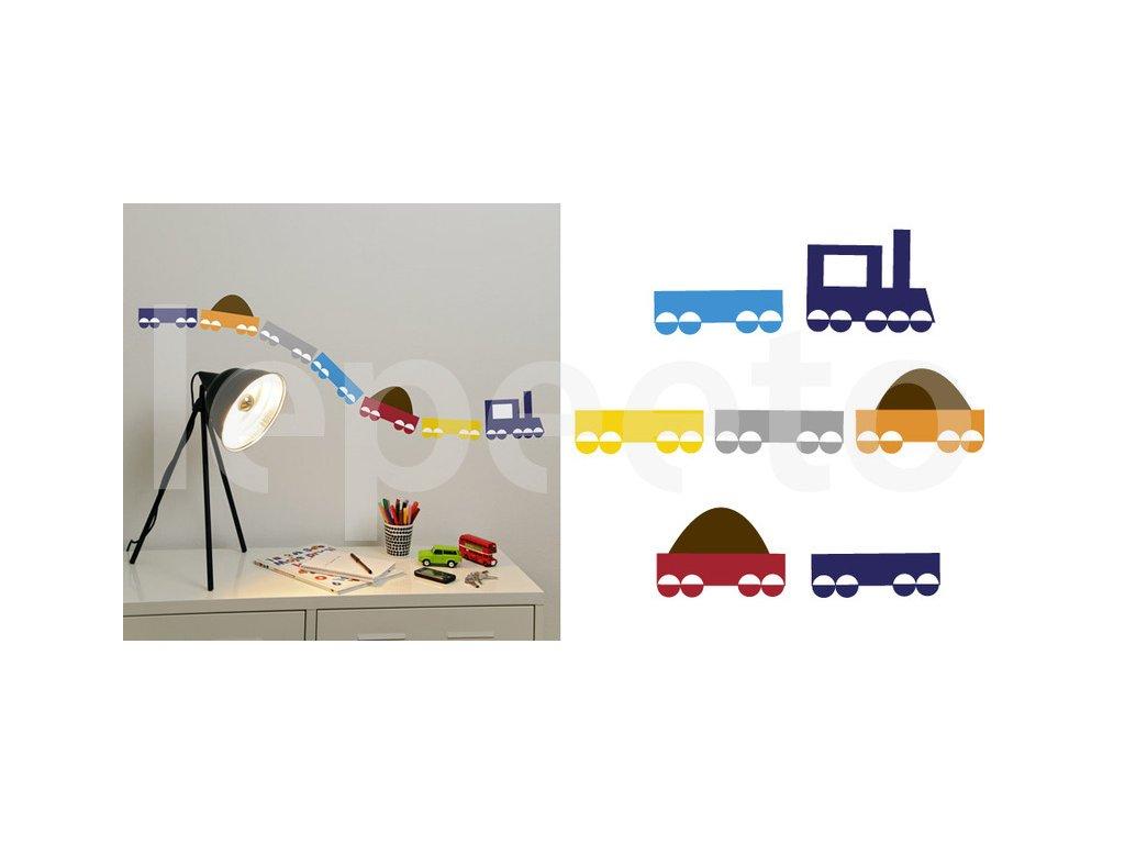 Jede vláček náklaďáček - minivláček - samolepka na zeď