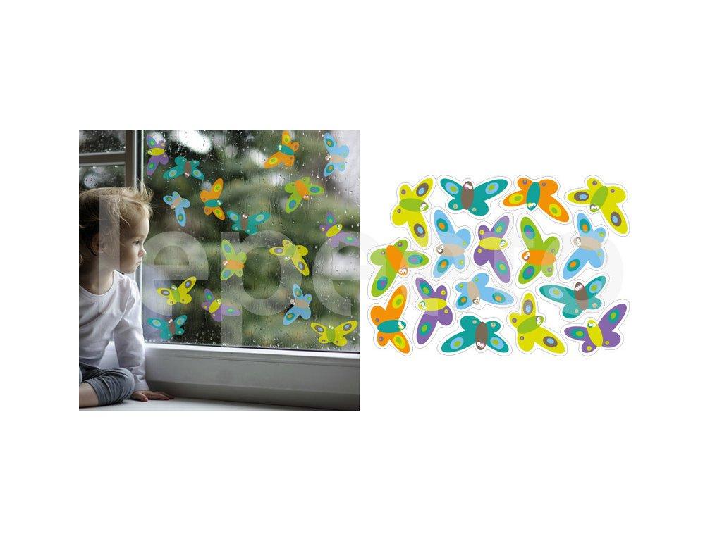 Motýlí třepotání - samolepky na okno - permanentní