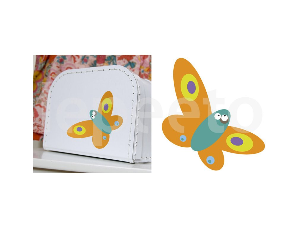 Mininálepka motýl PINK - samolepka na zeď