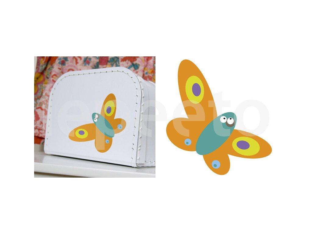 Mininálepka motýl - samolepka na zeď
