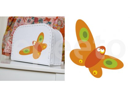 Motýl ORANGE - samolepka na zeď