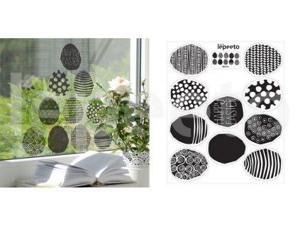 Vajíčka grafická - z kolekce Pestrobarevné jaro - statické samolepky na okno