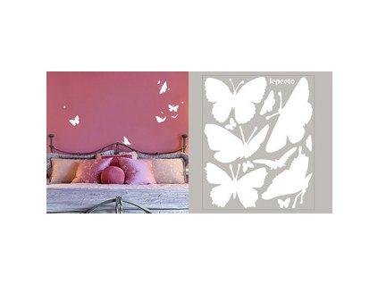 Hejno motýlů - samolepky na stěnu i okno