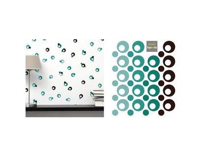 Puntíky kreativa - menší - samolepky na zeď