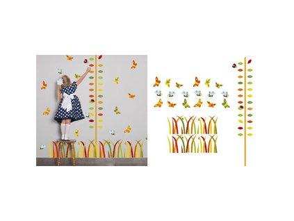 Motýlci hlídači - balíček samolepek a metr na zeď