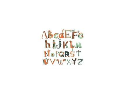 Pirátská abeceda - samolepky na zeď