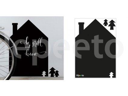 Dům u lesa - tabulová samolepka na stěnu