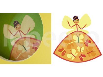 Víla s motýlky - samolepka na zeď