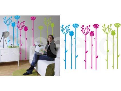 Balíček rozkvetlých stébel - samolepky na stěnu i okno