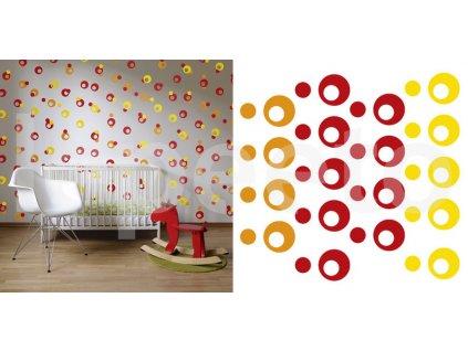 Puntíky kreativa - velké - průměr 6 cm - samolepky na zeď