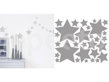 Hvězdičky zlaté nebo stříbrné