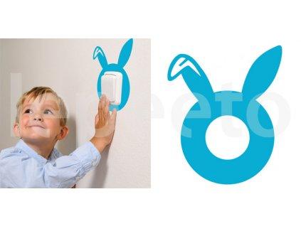 Zajíc - samolepka pod vypínač - na zeď
