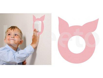Pašík - samolepka pod vypínač - na zeď